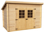 Abri Madriers bois massif 3 m / 20 mm /  6,05 m²