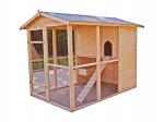 Poulailler XXL et grande hauteur 204 cm / 4,69 m2 / 6-10 poules / toit bitumé