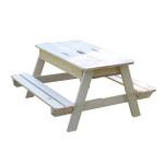 Table en bois enfant avec bac à sable
